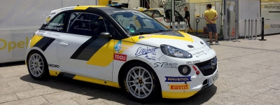 The enrolled teams in the Rally Islas Canarias recognize the stages of the first leg